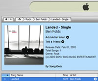 Ben Folds' Landed single now on iTunes
