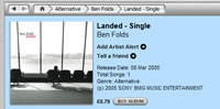 Landed on the UK iTunes music store