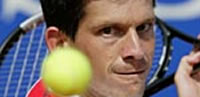 Tim Henman - not a happy man